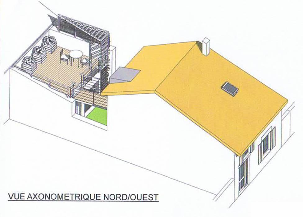 VUE AERIENNE DU PROJET: Maisons de style de style Moderne par AGENCE D'ARCHI. PASCALINE JUSTE