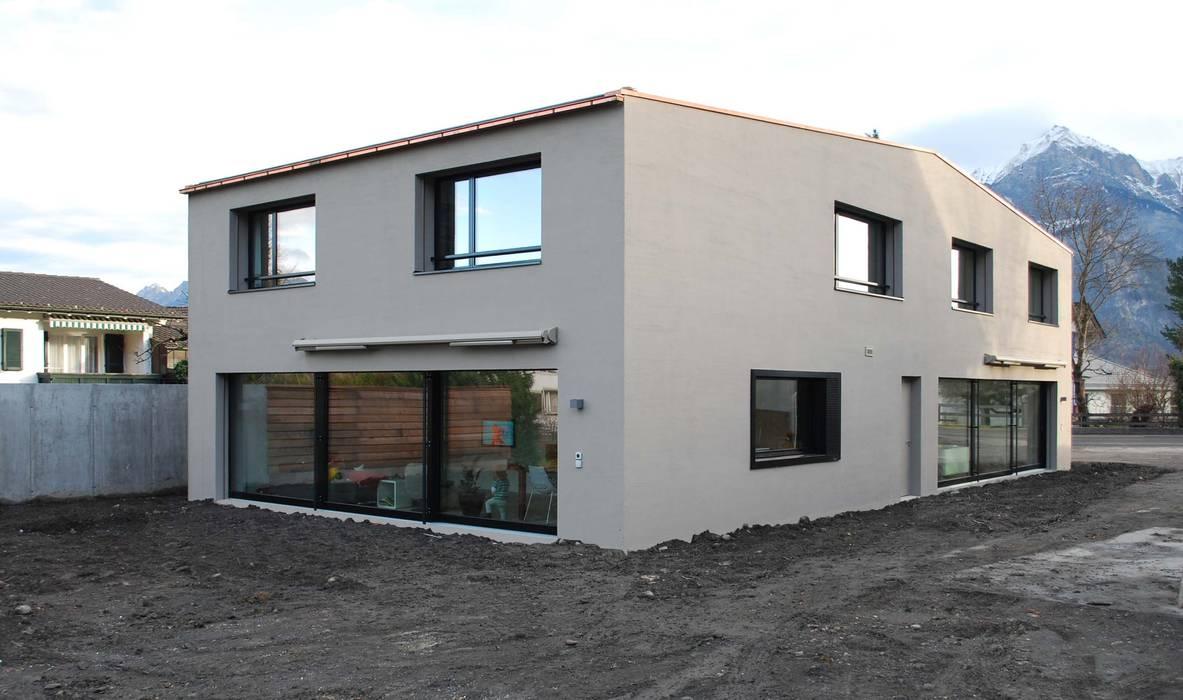 EFH Sarganserstrasse Marc Saladin Architekten GmbH Minimalistische Häuser