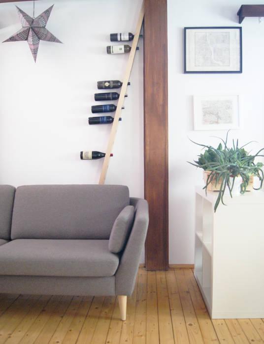 TU LAS wine rack in private interior de TU LAS Minimalista