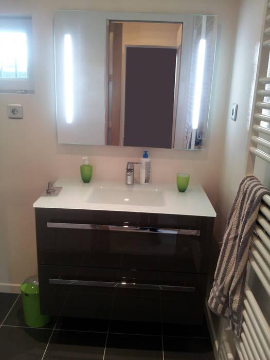 Salle de bain _ suite parentale: Salle de bains de style  par jennifer andrieu