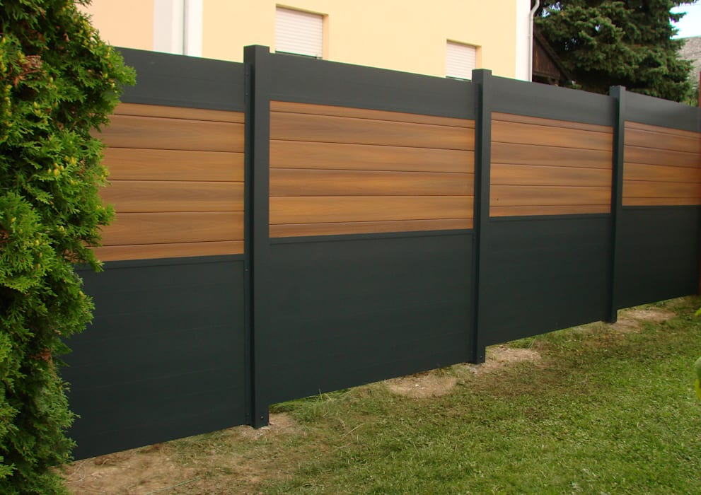 Stahl Terrasse sichtschutz aus aluminium und wpc: terrasse von bego holz und stahl