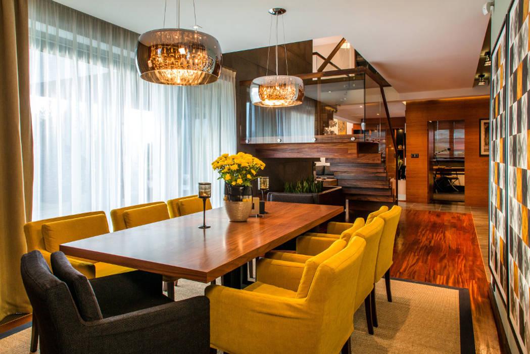 Jadalnia Eklektyczna jadalnia od Viva Design - projektowanie wnętrz Eklektyczny