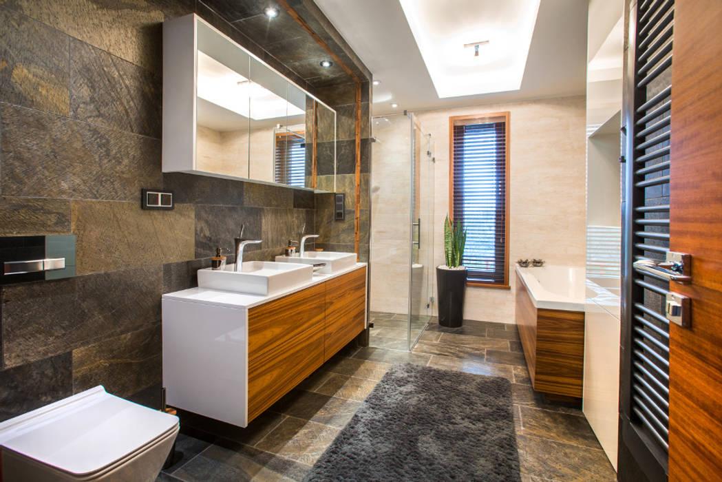 Główna łazienka Eklektyczna łazienka od Viva Design - projektowanie wnętrz Eklektyczny