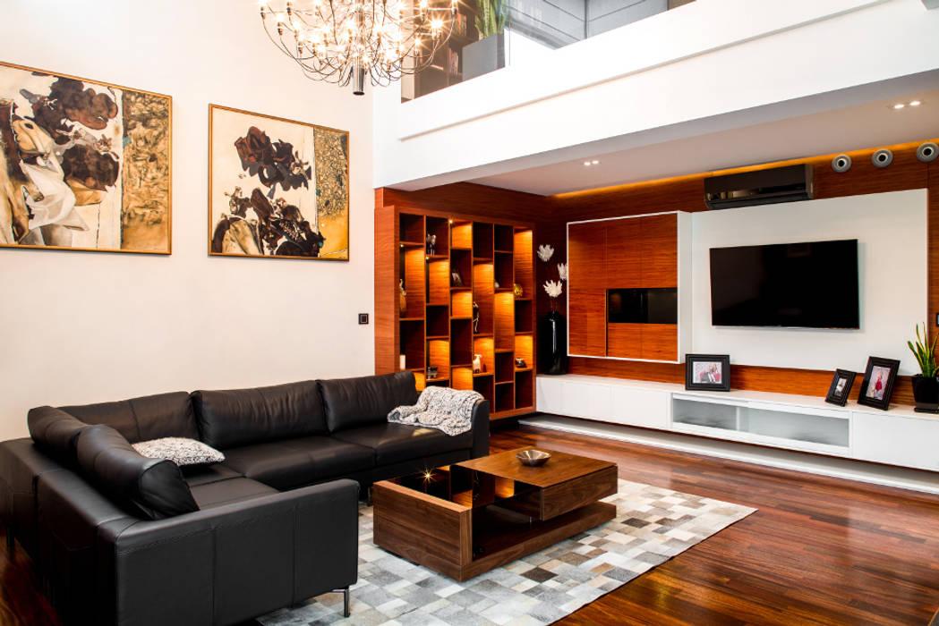 Salon Eklektyczny salon od Viva Design - projektowanie wnętrz Eklektyczny