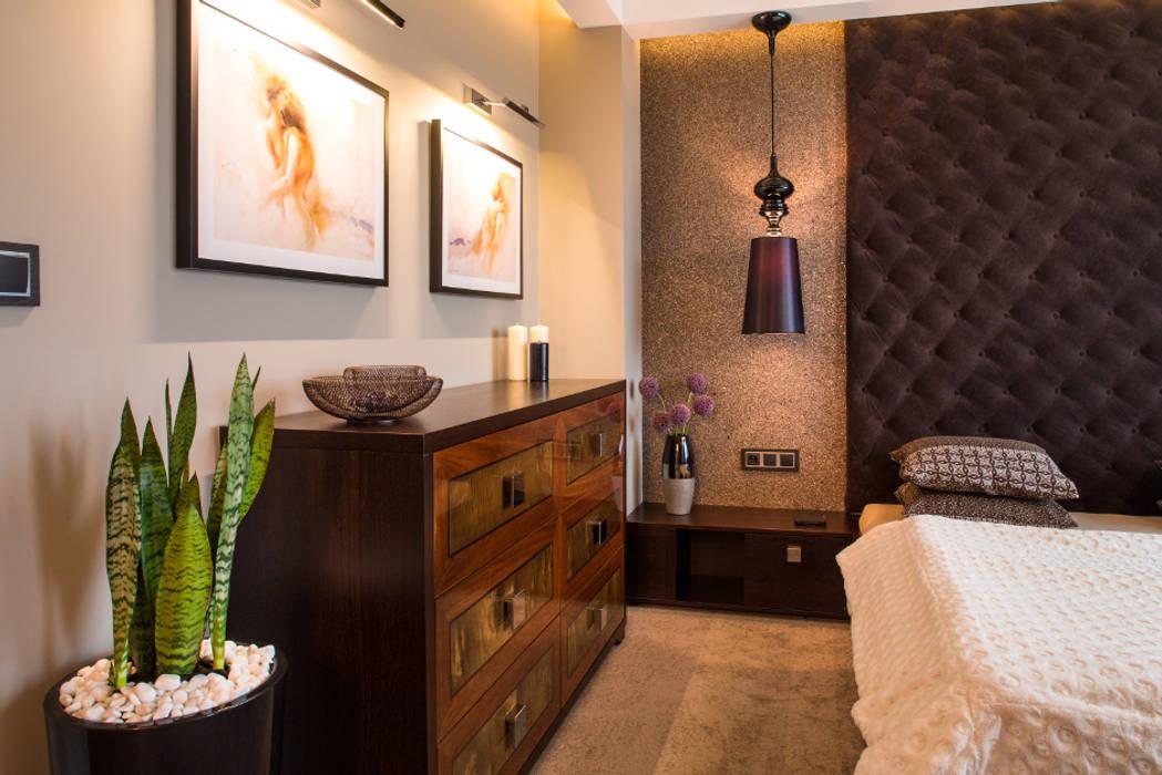 Sypialnia Eklektyczna sypialnia od Viva Design - projektowanie wnętrz Eklektyczny