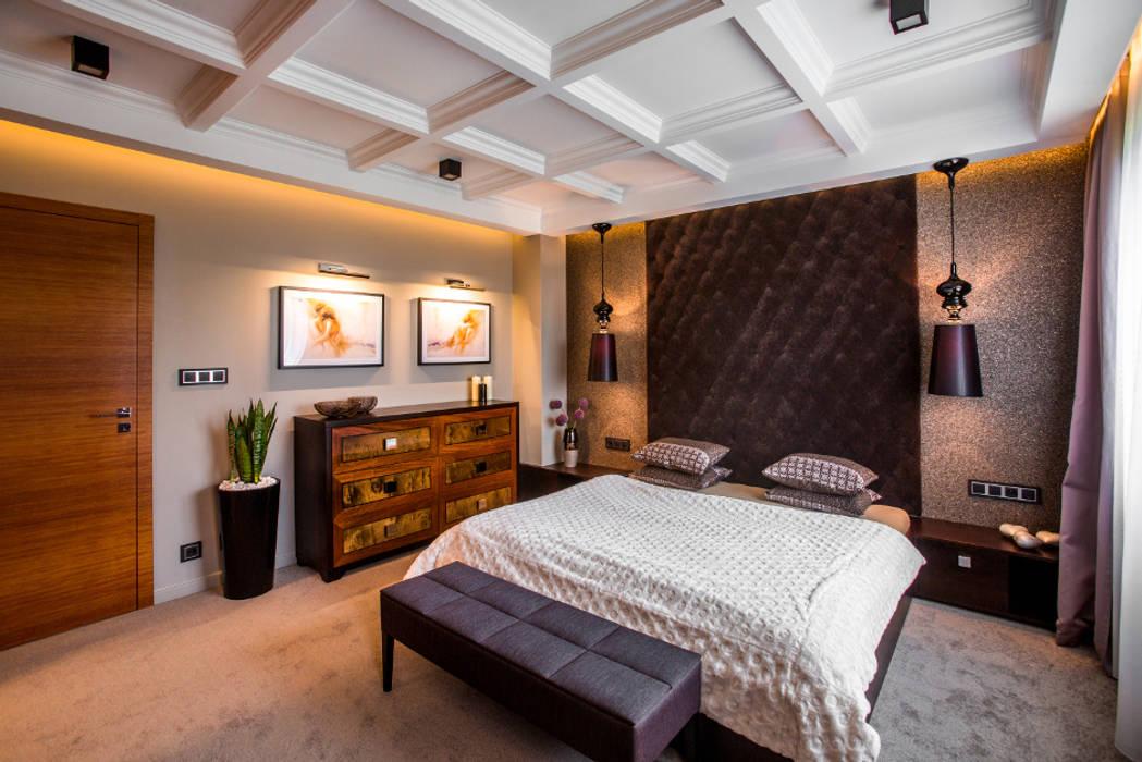 Sypialnia: styl , w kategorii Sypialnia zaprojektowany przez Viva Design - projektowanie wnętrz
