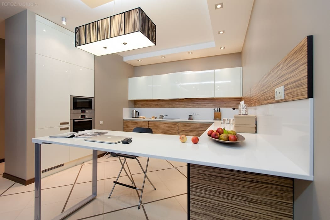 Вид на кухню : Кухни в . Автор – Аврора - частный дизайнер интерьера (ИП)