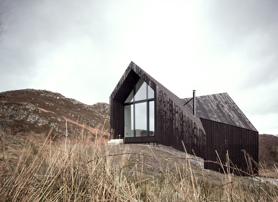 House At Camusdarach Sands Main Elevation:  Houses by Raw Architecture Workshop