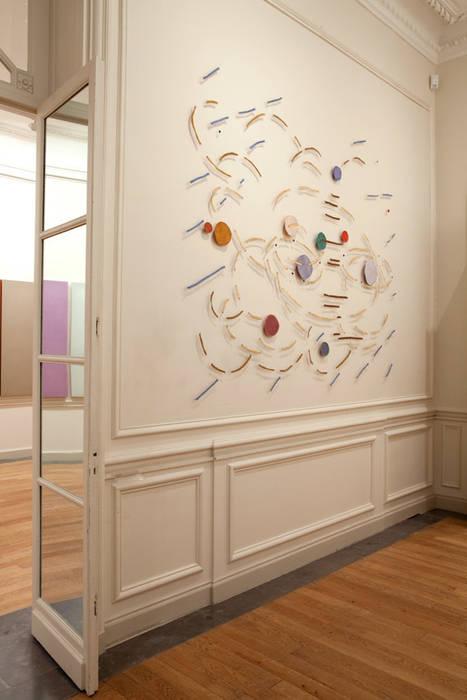 Palimpsest 2- 2007- 260 x 290 cm, horsehair, fabric, stitched Marian Bijlenga Kunst Sculpturen