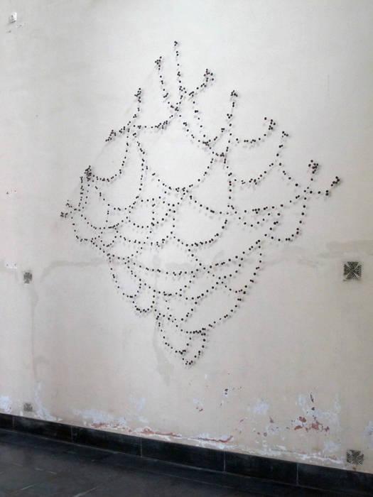 Palimpsest 6- 2007- 250 x 250 cm, horsehair, fabric, stitched Marian Bijlenga Kunst Sculpturen