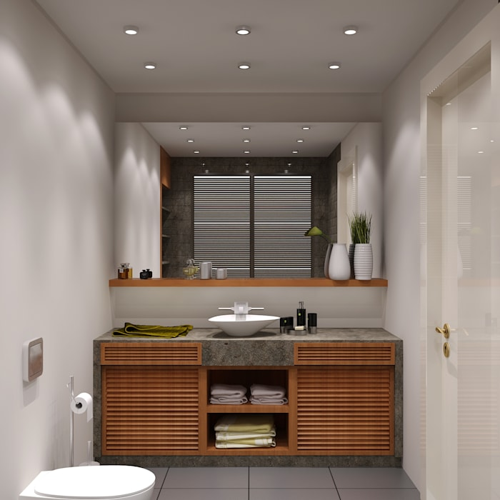 Latis Mimarlık ve İnşaat – Banyo Dekorasyon 02: modern tarz , Modern