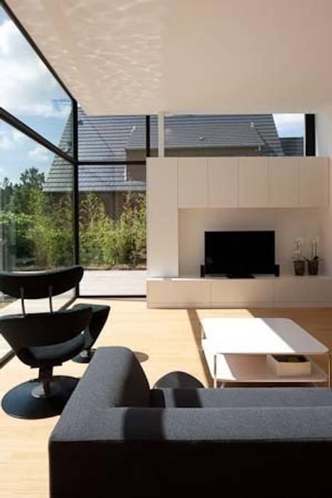 woning te Heverlee hasa architecten bvba Moderne woonkamers