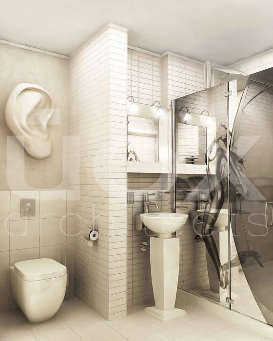 "Квартира ""TOTAL WHITE"": Ванные комнаты в . Автор – ЙОХ architects,"