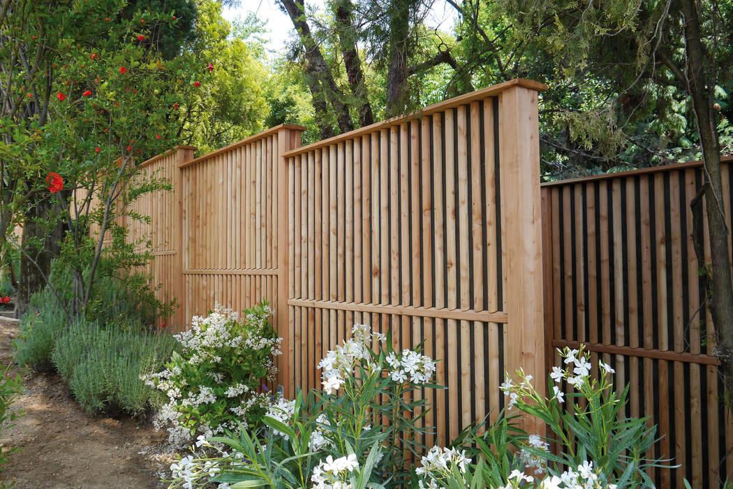 Schallschutzzaun Limes Moderner Garten von Braun & Würfele - Holz im Garten Modern Holz Holznachbildung