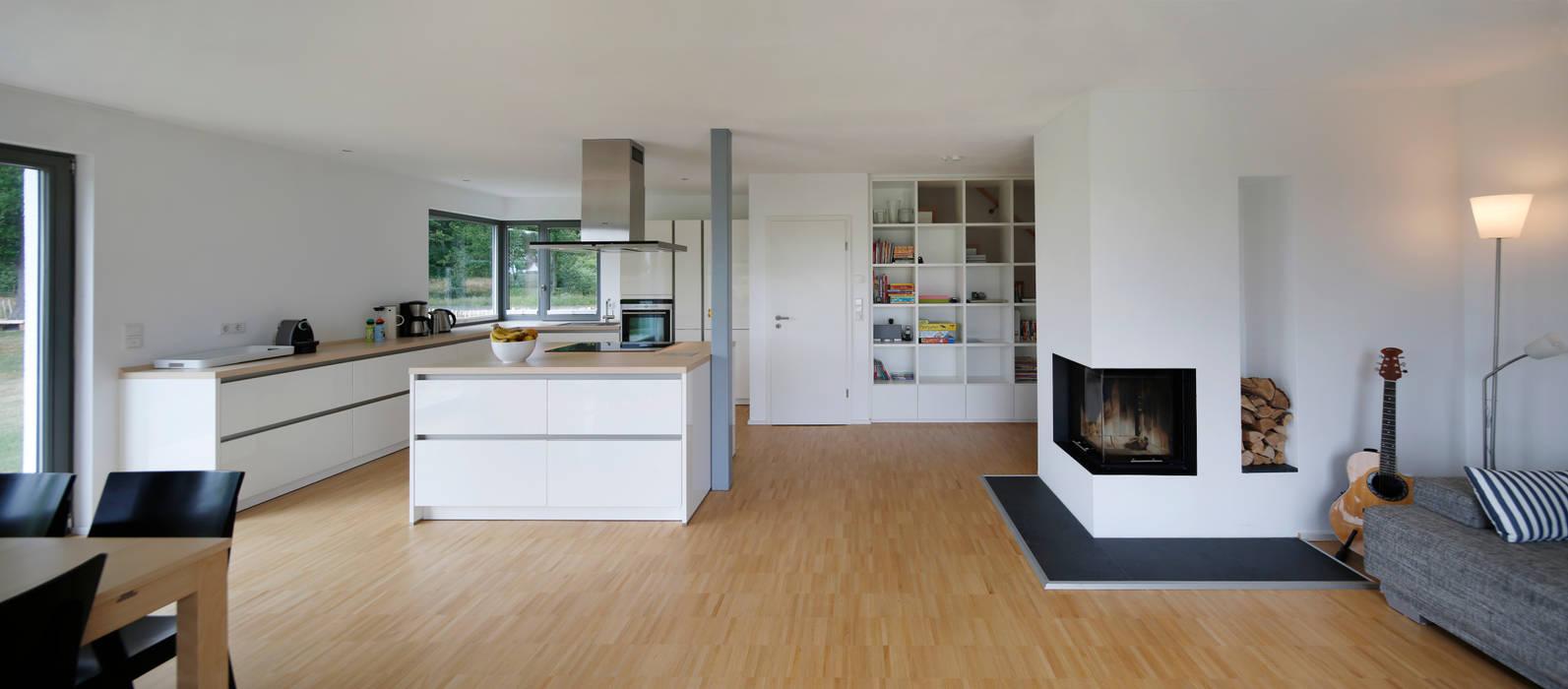 Einfamilienhaus d wasb ttel bei gifhorn moderne wohnzimmer von gondesen architekt homify - Architekt gifhorn ...