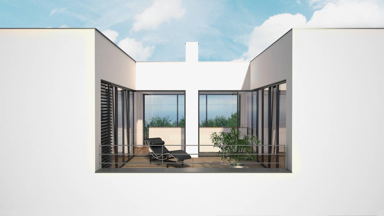 Wohnhaus W RTW Architekten Moderner Balkon, Veranda & Terrasse
