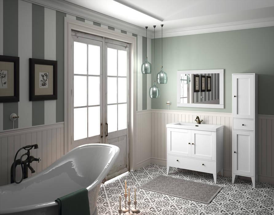 Mueble Boheme Blanco Vintage de Cuartodebaño.com Rústico