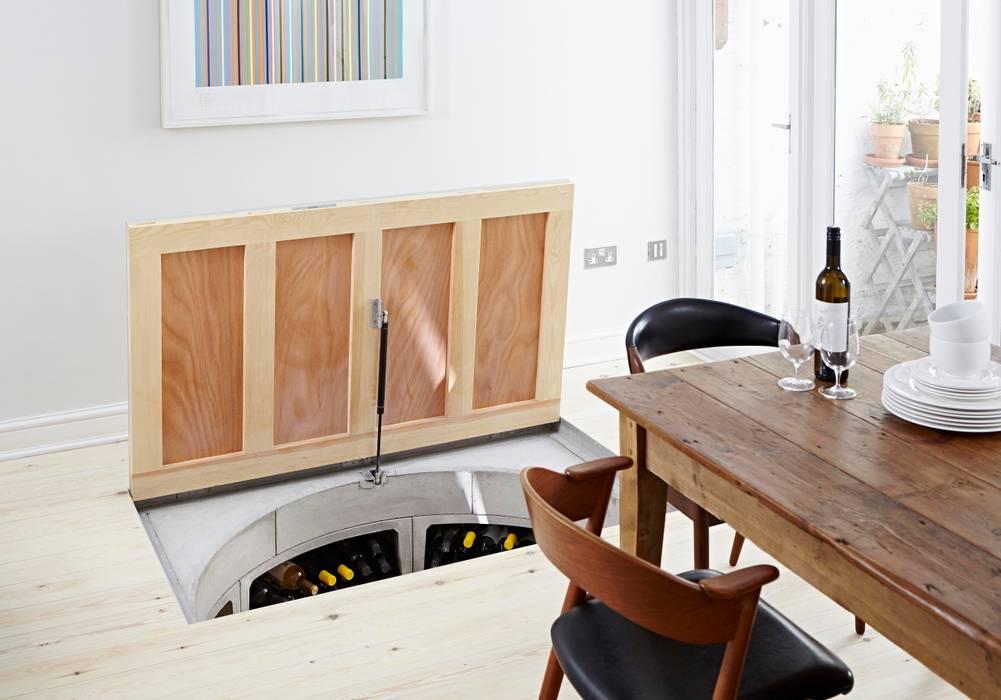 Original Spiral Cellar with Recessed Trap Door for Timber โดย Spiral Cellars โมเดิร์น