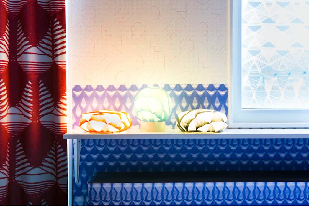 The lace room with Lamp Pullovers Hotel Modern Oleh Studio Petra Vonk Modern
