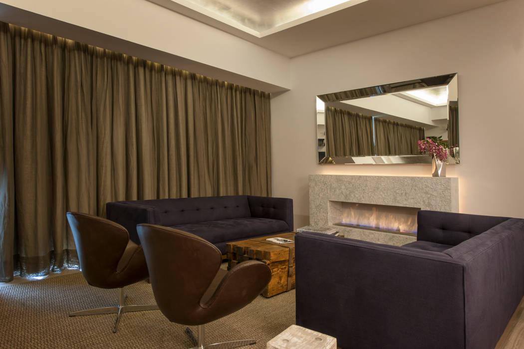 Departamento GC: Salas de estilo  por kababie arquitectos