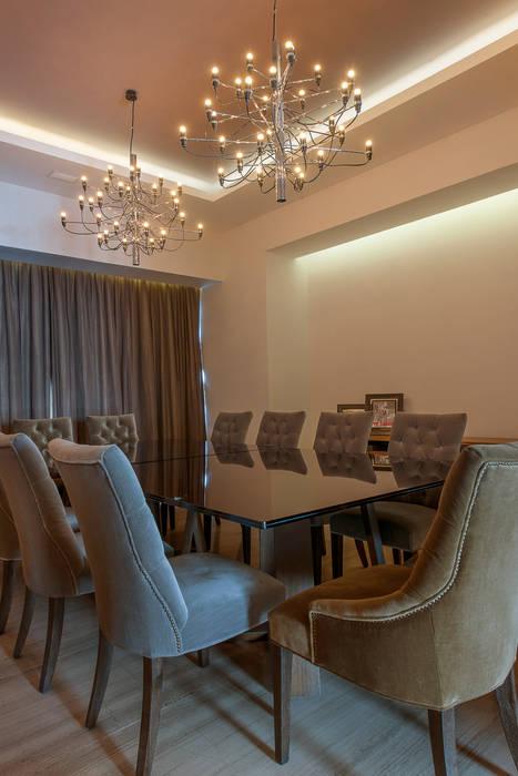 Departamento GC: Comedores de estilo moderno por kababie arquitectos