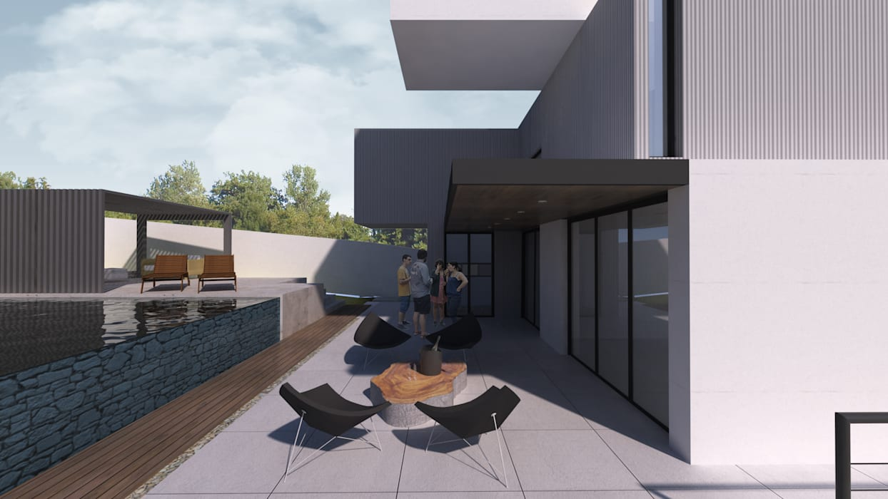 Terrasse de style  par K+S arquitetos associados, Moderne