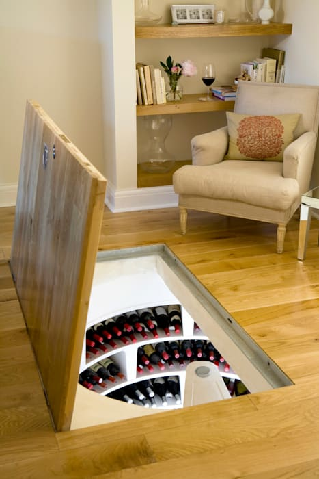 Spiral Cellar with Recessed Trap Door Rustic style wine cellar by Spiral Cellars Rustic