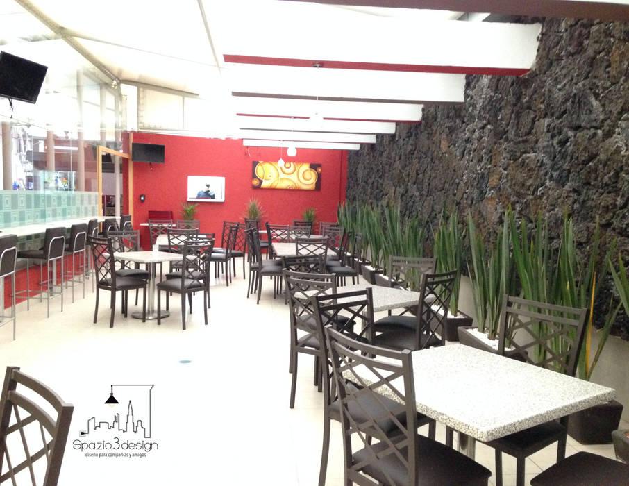 Restaurante Banobras: Edificios de Oficinas de estilo  por Spazio3Design
