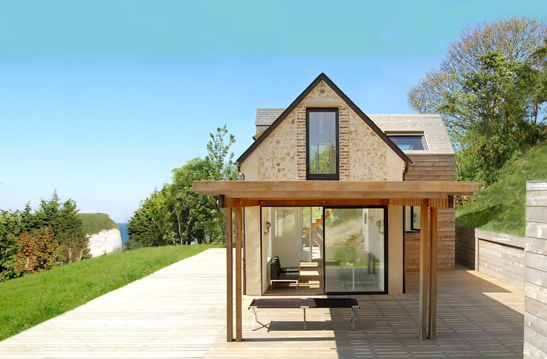 Maison V.W. - Extérieur: Maisons de style  par Franklin Azzi Architecture,