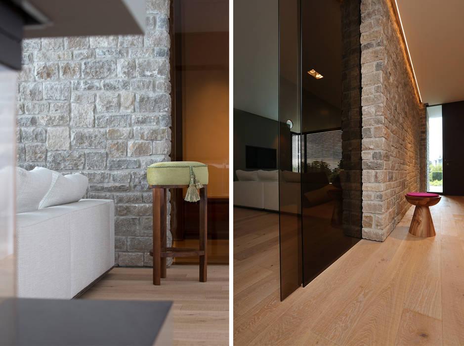 Villa P2:  Wohnzimmer von DG/D Architekten,Modern