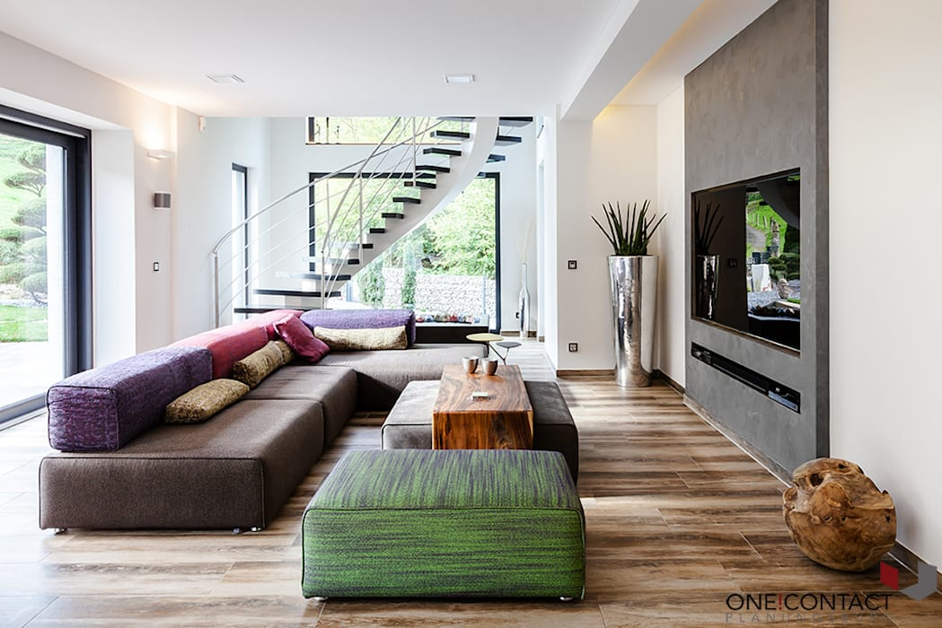 Eclectic style living room by ONE!CONTACT - Planungsbüro GmbH Eclectic
