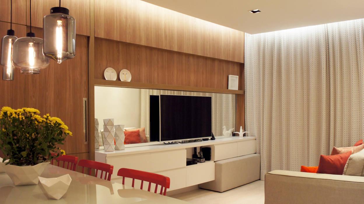 Sala de Estar/Jantar Salas de estar escandinavas por fpr Studio Escandinavo
