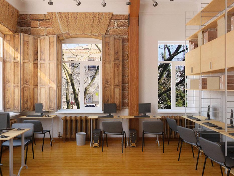 Офисный лофт: Офисные помещения в . Автор – Дизайн студия Александра Скирды ВЕРСАЛЬПРОЕКТ, Лофт