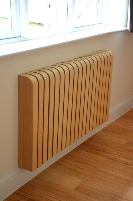 Wooden Ash Radiator Cover:  Living room by Cool Radiators? It's Covered!