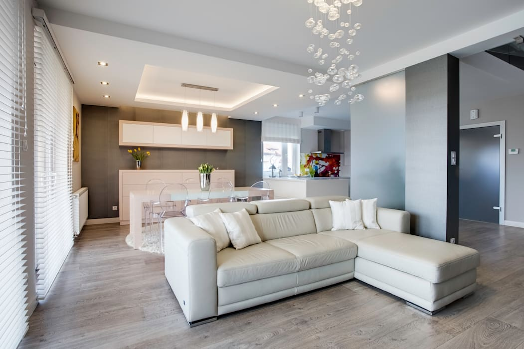 Modern living room by DK architektura wnętrz Modern