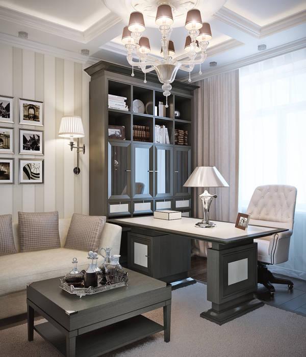 Oficinas de estilo clásico de EJ Studio Clásico
