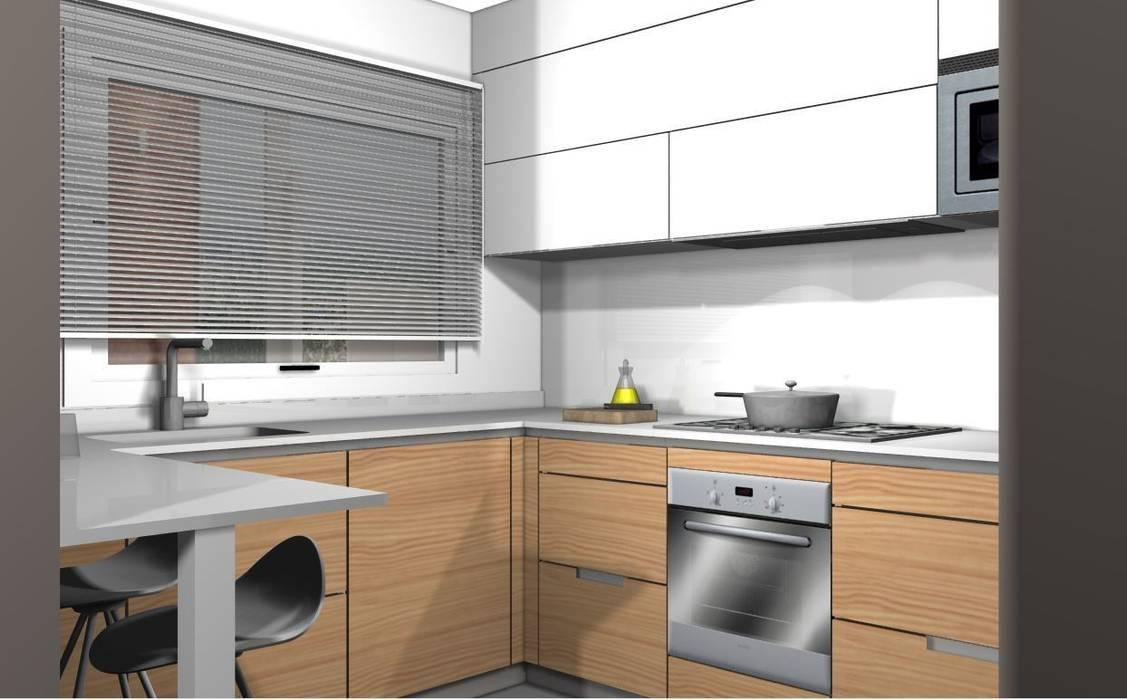 Diseño 3d – zona cocción cocinas de estilo moderno de ...