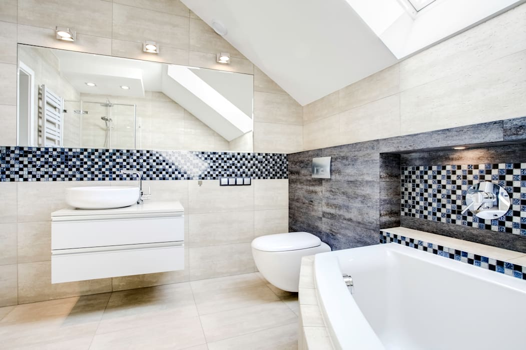 Modern bathroom by DK architektura wnętrz Modern