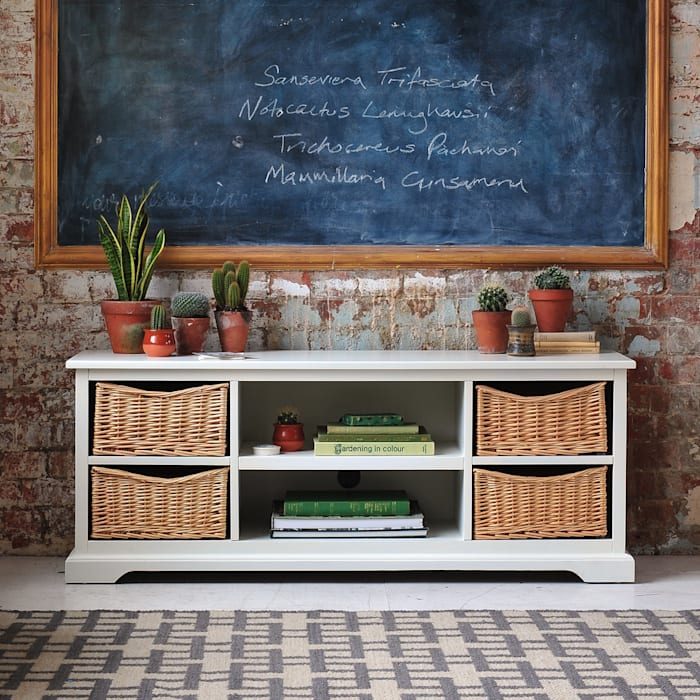 """Farmhouse Ivory Widescreen Unit - up to 62"""" by The Cotswold Company Кантрi"""