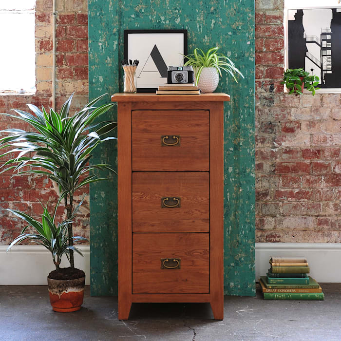 Oakland 3 Drawer Filing Cabinet par The Cotswold Company Rural