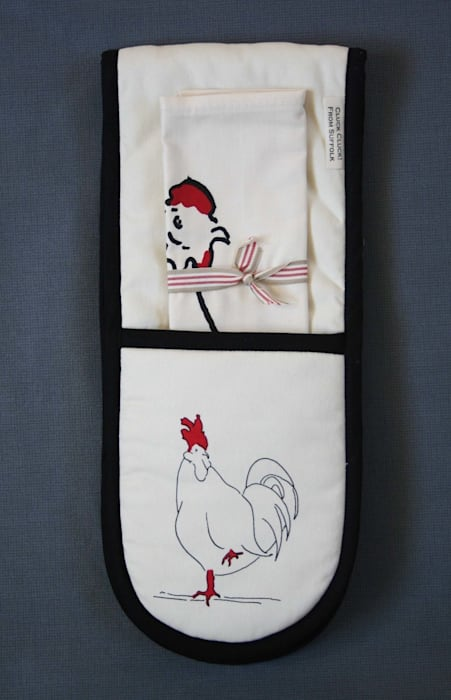 Oven-gloves & t-towel set: country  by Cluck Cluck!, Country