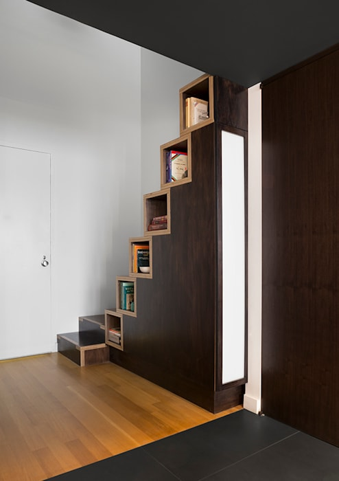 Village Loft Modern Corridor, Hallway and Staircase by General Assembly Modern