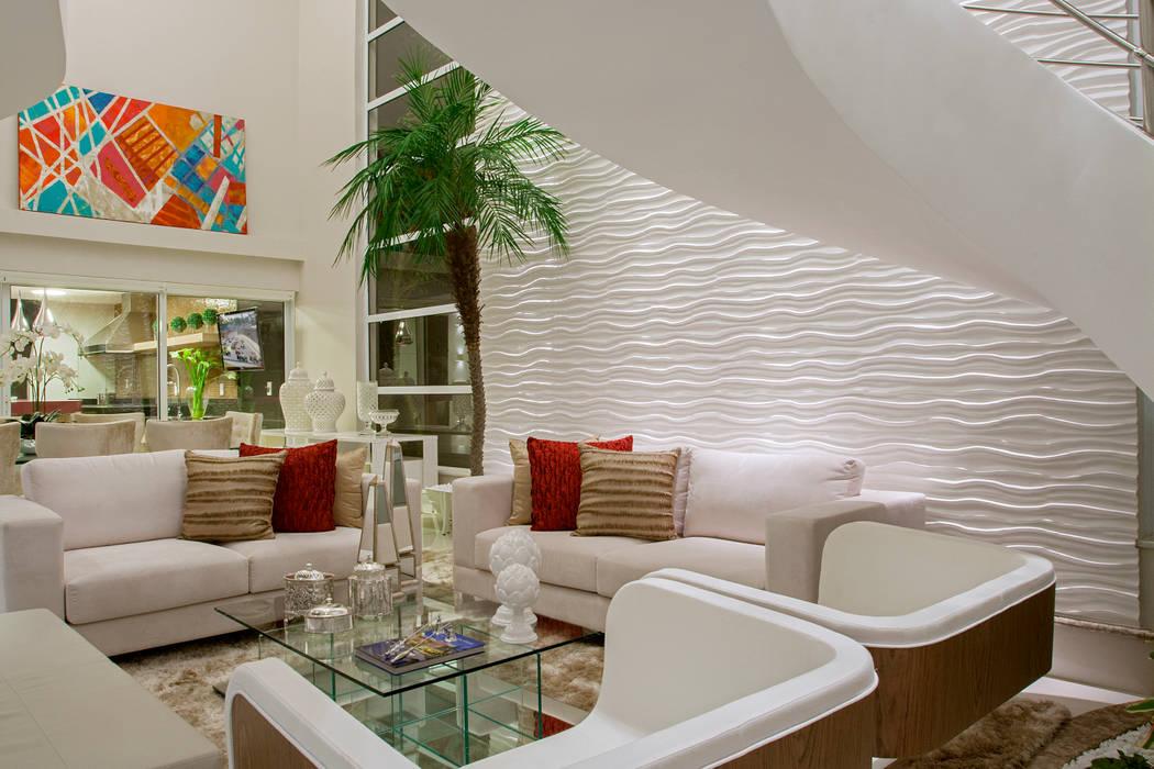 Ruang Keluarga Modern Oleh Designer de Interiores e Paisagista Iara Kílaris Modern