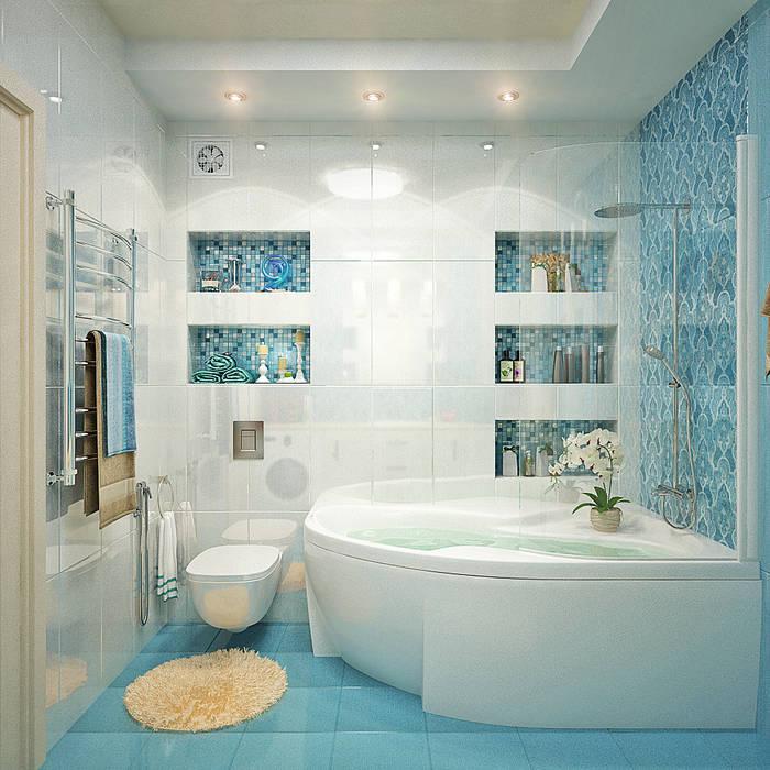 Ванная комната в двух вариантах Ванная комната в стиле минимализм от Студия дизайна Interior Design IDEAS Минимализм