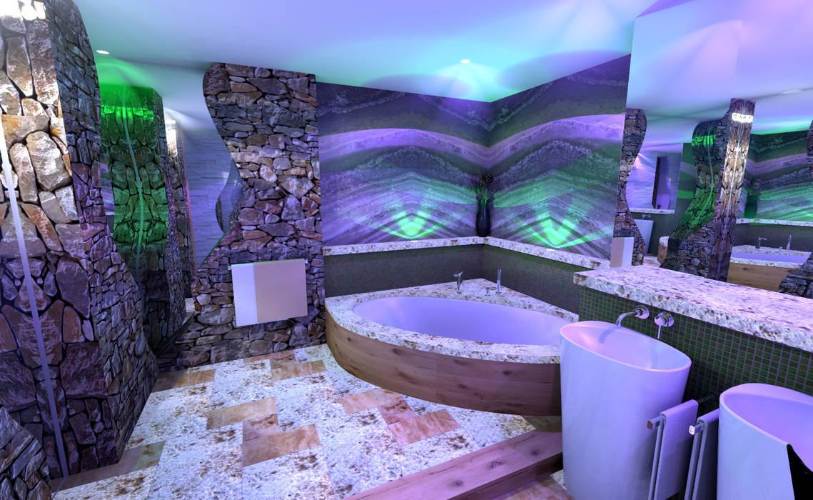 Rustykalna łazienka od Art of Bath Rustykalny