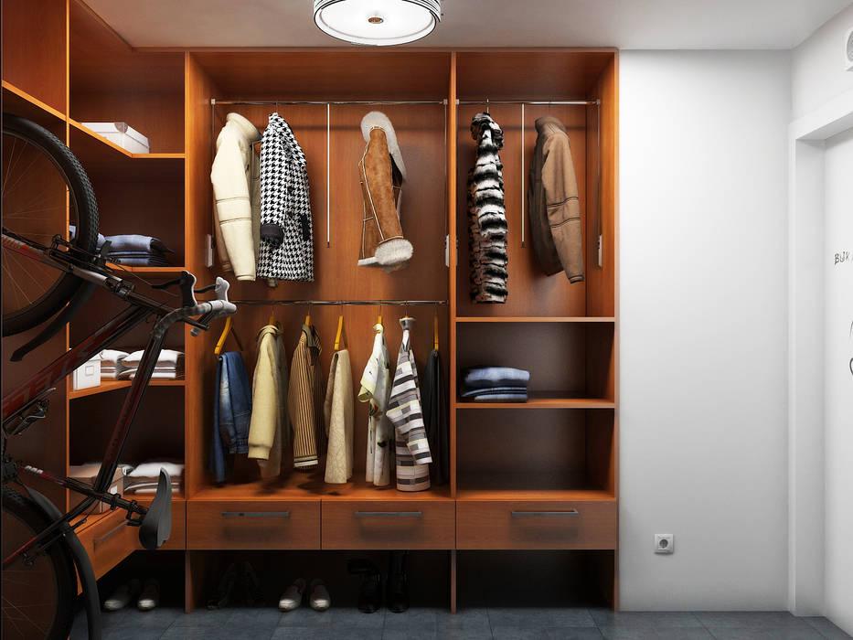 Dressing room by Дизайн студия Александра Скирды ВЕРСАЛЬПРОЕКТ, Eclectic