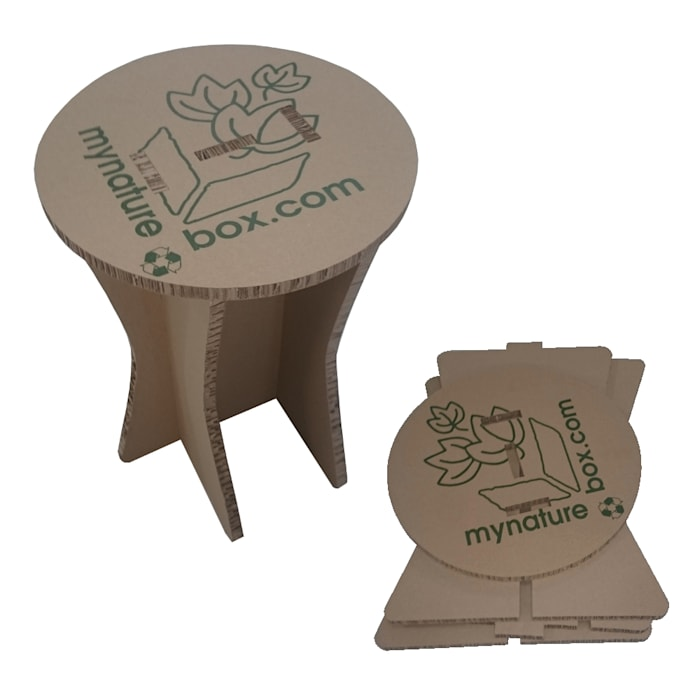 Tabouret en carton kraft : Centre d'expositions de style  par MY NATURE BOX