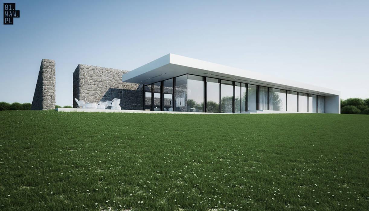 Dom Polny: styl , w kategorii Domy zaprojektowany przez 81.waw.pl