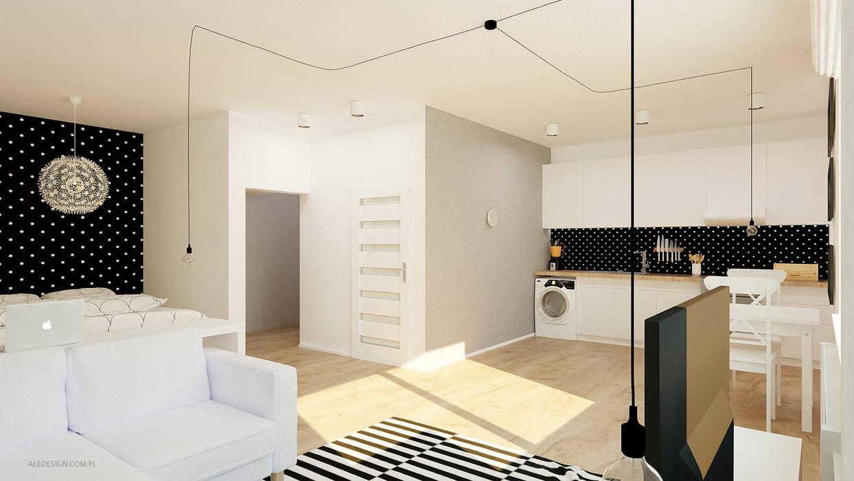 Salas de estar minimalistas por Ale design Grzegorz Grzywacz Minimalista
