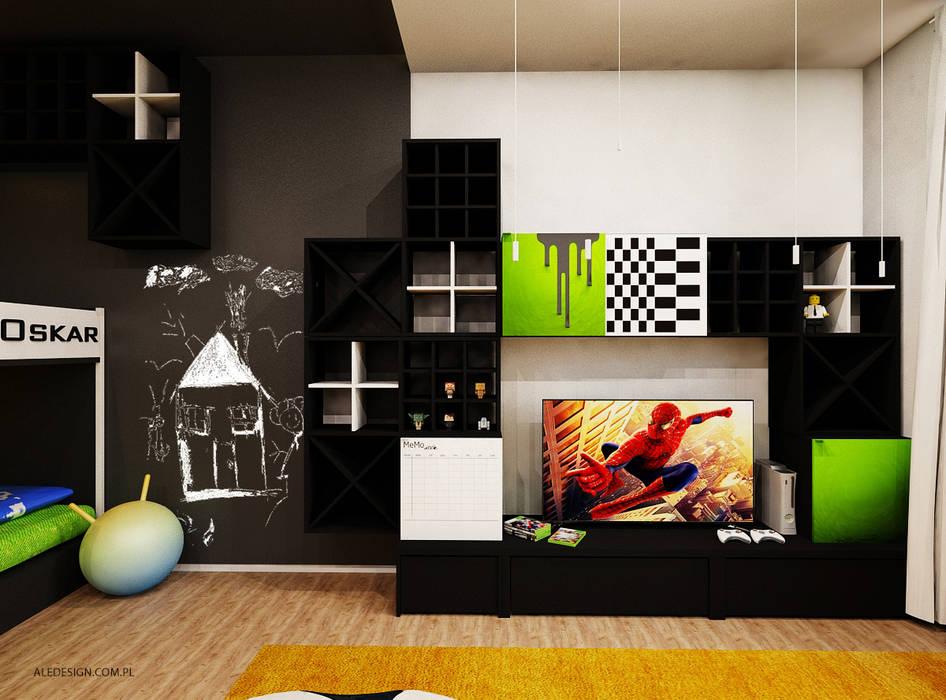 Pokój chłopców w wieku 8 i 5 lat: styl , w kategorii Pokój dziecięcy zaprojektowany przez Ale design Grzegorz Grzywacz,